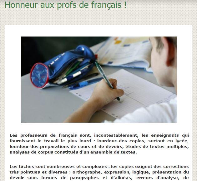 honneur prof français