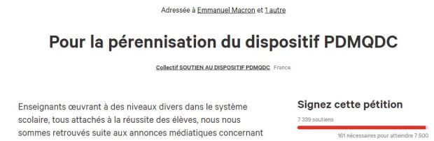 pétition PDMQDC