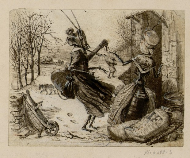Les Fables de La Fontaine / albums des dessins originaux de Grandville (1837-1846)